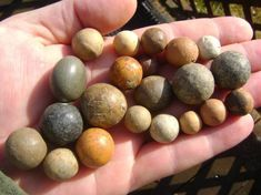 Clay and stone marbles have been found in native american sites and burials. Description from arrowheadology.com. I searched for this on bing.com/images