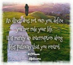 Don't let it define you.
