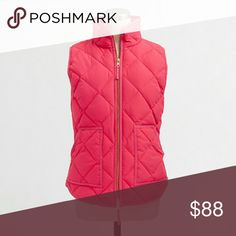 J. Crew Quilted Puffer Vest Brand new with tags, gold hardware. Very pretty! J. Crew Jackets & Coats Vests