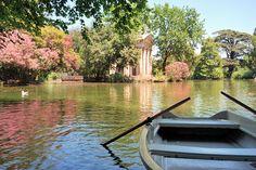 Villa Borghese gardens & boat