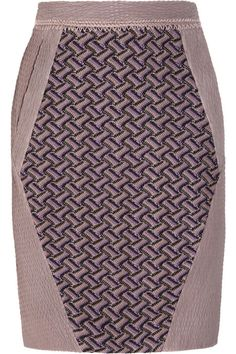 Missoni+Leather+and+crochet-knit+mini+skirt
