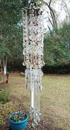 Shimmer and Sparkle Antique Crystal Wind Chime, Crystal Mobile, Garden Decoration, Home Decoration, Bohemian Wind Chime, Crystal Sun Catcher