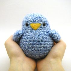 Crochet Toy Pattern Fat Birdy by Mamachee on Etsy Crochet Toys Patterns, Amigurumi Patterns, Stuffed Toys Patterns, Crochet Dolls, Crochet Birds, Crochet Animals, Crochet Baby, Knit Crochet, Yarn Projects