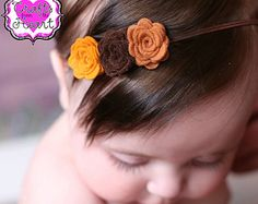 Otoño otoño fieltro flor diadema o pelo Clip por LullabyBlossoms
