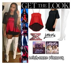 """""""Leigh-Anne Pinnock Little Mix The X Factor Italia  24th November, 2016"""" by valenlss ❤ liked on Polyvore featuring vintage"""