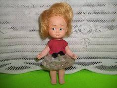 boneca mini doll kity estrela década 60