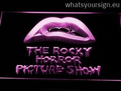 Rocky Horror Picture Show - Neon sign LED display made of the premium quality transparent acrylic and briliant colorful LED glow. The neon sign looks exactly the same from all angles thanks to the carving with the modern 3D laser engraving technology. This LED neon sign is a great gift idea! The neon is provided with a metal chain for displaying. Available in 3 sizes in following colours: White, Blue, Purple, Red, Green, Yellow and Orange!