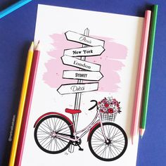 On my desk: With this stylish bike you can travel the world! Or at least part of it :-)