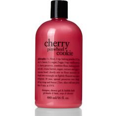 PHILOSOPHY 16 oz. Cherry Pinwheel Cookie 3-In-1 Shower Gel ($9.99) ❤ liked on Polyvore featuring beauty products, bath & body products, body cleansers, beauty, fillers, makeup, philosophy and bubble bath