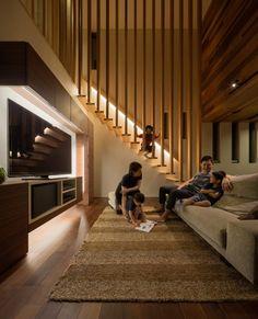 Descubra fotos de Casas modernas por Architect Show co.,Ltd. Veja fotos com as melhores ideias e inspirações para criar uma casa perfeita.