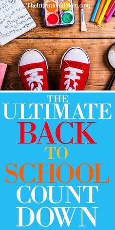 Back to School Countdown | Back to School Organization | Back to School Tips | Planning | Organizing via… http://itz-my.com