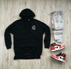 Dope Outfits For Guys, Swag Outfits Men, Hype Clothing, Mens Clothing Styles, Hypebeast Outfit, Black Men Street Fashion, Moda Blog, Outfit Grid, Mode Streetwear