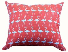 Pink flamingo throw pillows - cool!