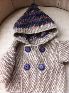 Seed Stitch Baby Jacket pattern by Elinor Brown