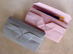 Origami Porte-Monnaie via http://www.oriland.com/blog/?p=88