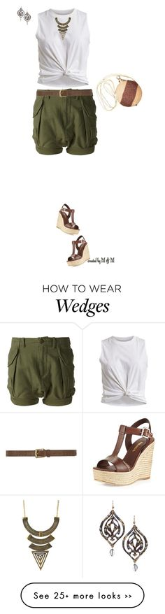 """Safari Look- How to Wear Cargo Shorts"" by marion-fashionista-diva-miller on Polyvore"