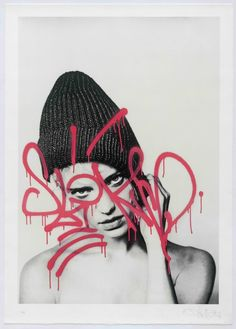 "NOW AVAILABLE, lithograph ""Julie I"" the street artist Rafael Sliks in collaboration with the famous Swiss model Julie Ordon & the French photographer Vincent Edmond Louis ! #streetart #contemporaryart #lithograph #rafaelsliks #printthemall"