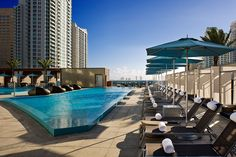 Epic, Miami - downtown hotels tend to be a bit chainy, but the Epic, with its modern-meets-Mad-Men-esque interiors, is a nice departure.