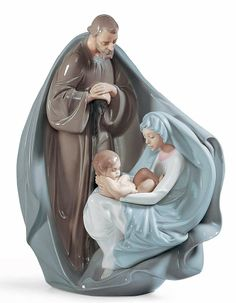 "✧ Lladro Nativity figurines ""Birth of Jesus"" ✧ Christmas Nativity Scene, Christmas Figurines, Nativity Scenes, Nativity Ornaments, Canvas Background, Birth Of Jesus, Holy Family, Holy Night, Joseph"
