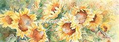 Sunshine by Catherine Sickafoose Original Watercolor ~ 6 x 17