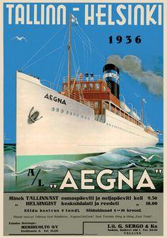 Tallinn- Helsinki 1936. We took a modern day ship from Tallinn to Helsinki but still cool.