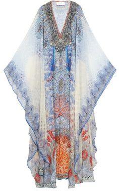 CAMILLA Concubine Realm-print silk-crepe kaftan