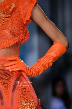 Orange you glad YOU didn't have to wear this outfit on a runway?