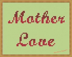 Ah, Mother Love, in a free cross stitch pattern! From Maria Merlino.
