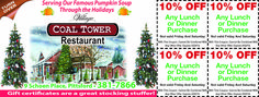 Coal Tower Restaurant at Schoen Place in Pittsford, NY is a great family restaurant with delicious food! Save on your meal now with these coupons.