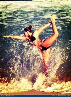 #Yoga Poses Around the World: Dancer Pose taken in Rio de Janeiro, Brazil by Joana F.