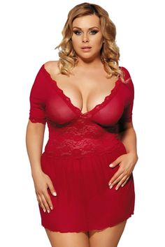 ee43666bcac Sexy Lace Deep V Lingerie Sleepwear V Back Sex Red Women Sexy Lingerie  Babydoll