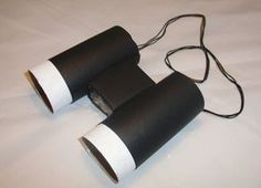 Binoculars from WC roll UPD: it is easy to make, 3 year child liked to paint WC rolls in black; Jungle Party, Jungle Safari, Jungle Animals, Toilet Roll Craft, Toilet Paper Roll Crafts, Mothers Day Crafts For Kids, Diy For Kids, Kids Crafts, Egg Carton Crafts