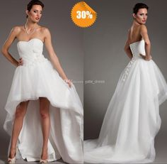 Wholesale Hi Lo Wedding Dress - Buy Hottest Selling Short front Long Back Corset Beach Bridal Gown Sweetheart Lace Appliques White Organza Hi Lo Dreaming Wedding Dresses Sexy, $128.0 | DHgate