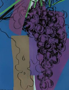 Andy Warhol, Grapes, unique color screenprint, 1979, record price of $64,800 (including premium).