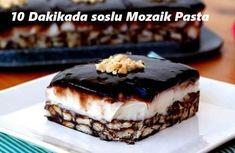 10 Dakikada soslu Mozaik Pasta - İyi Hobi Turkish Recipes, Ethnic Recipes, Pasta Cake, Pasta Recipes, Chocolate Cake, Tiramisu, Cheesecake, Muffin, Turkey