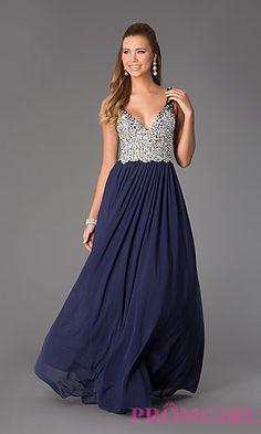 Long V-Neck JVN by Jovani Prom Dress at PromGirl.com