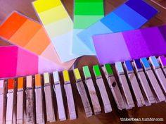 Montessori activity ~ Color gradient matching.