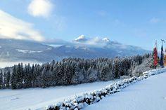 Blick ins #Tal auf die #Jauken im #Outdoorpark #Oberdrautal #Kärnten #Austria #Winterkulisse #Glocknerhof #bergimdrautal