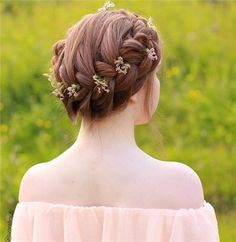 French Braid Head Piece - 20 Beautiful Confirmation Hairstyles - EverAfterGuide