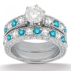 Blue Diamond Wedding Set