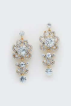 Celeste Earrings in Crystal//