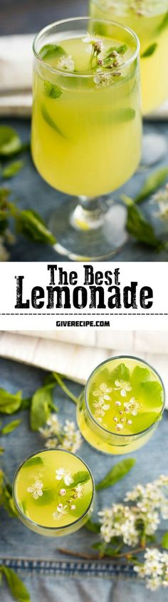 The BEST lemonade ever! Very refreshing with lemon zest, fresh mint and ginger flavors. Very easy to make! | giverecipe.com