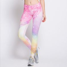 New Style Fairytale Yoga Pants Product description: - Super breathable and comfortable fabric hug your legs tightly and seamless - Dreamy and fairytale printed design unleash your inner girly characte