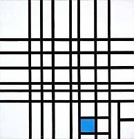 Mondrian, Piet - Composition n° 12 avec du bleu - Musée des beaux-arts du Canada, Ottawa