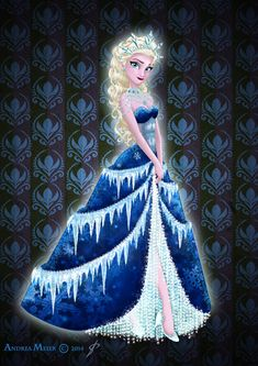 Royal Jewels Dress Edition: ELSA by MissMikopete.deviantart.com on @deviantART - Second in a series
