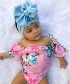 Kryssi Kouture Girls Hawaiian Fiesta Tropical Pink Floral Off The Shoulder Romper - Brooklyn Baby Name - Ideas of Brooklyn Baby Name - Cute Baby Girl, Cute Babies, Baby Kids, Baby Boy, Carters Baby, Baby Girl Fashion, Kids Fashion, Fashion Dolls, Moda Afro