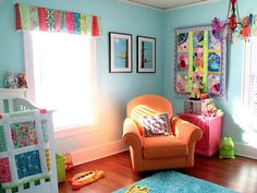 Absolutely love how colorful this room is!