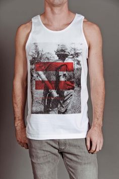 One of my designs for Arsnl Clothing ARSNL MACHINES TANKTOP