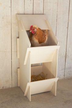 Kerbl Hühner Legenest Holz unmontiert 30 x 35 x 83 cm 10 Hennen Pappelholz