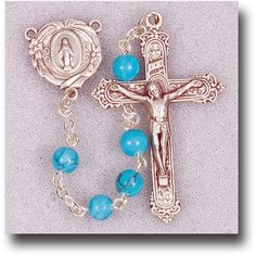 Regina's Catholic Gifts - Genuine Gem Stone 6 mm Turquoise Rosary, $33.95 (http://www.reginascatholicgifts.com/genuine-gem-stone-6-mm-turquoise-rosary/)